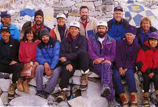 Hall and Ball - Rob Hall And Adventure Consultants 1996 Everest Expedition At Everest Base Camp